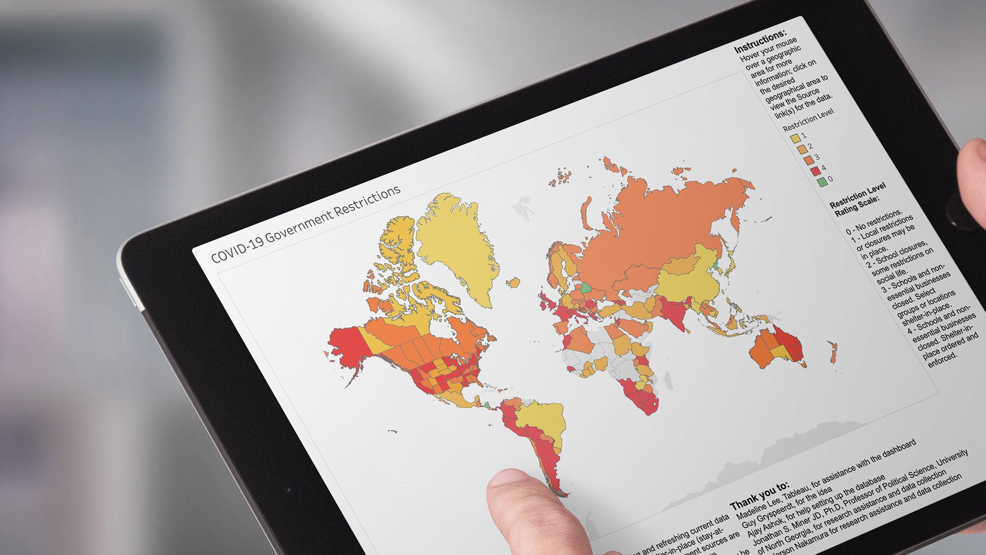 Covid19 map ipad mockup opt