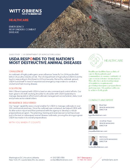 Case Study Avian Flu Healthcare