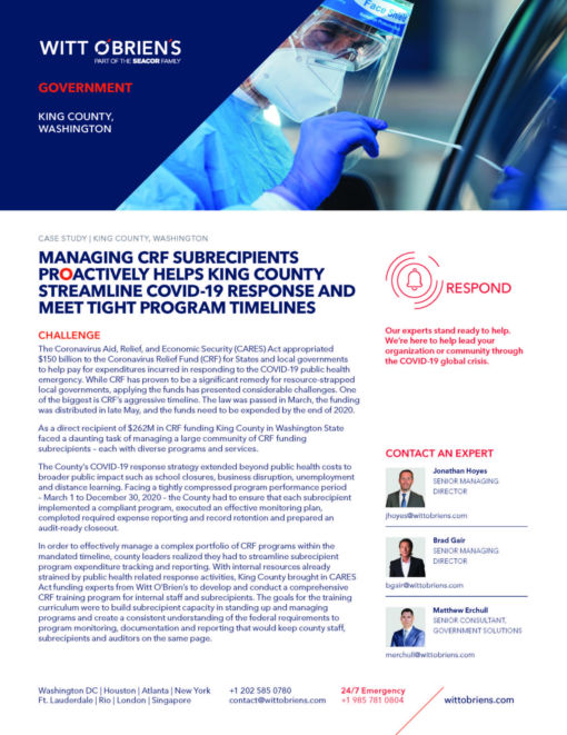 Case Study King County COVID 19 Response Page 1