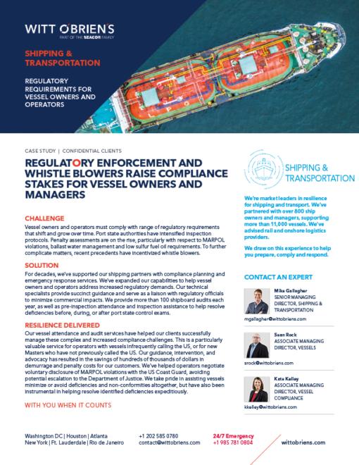 Case Study Regulatory Enforcement Shipping and Transportation prepare