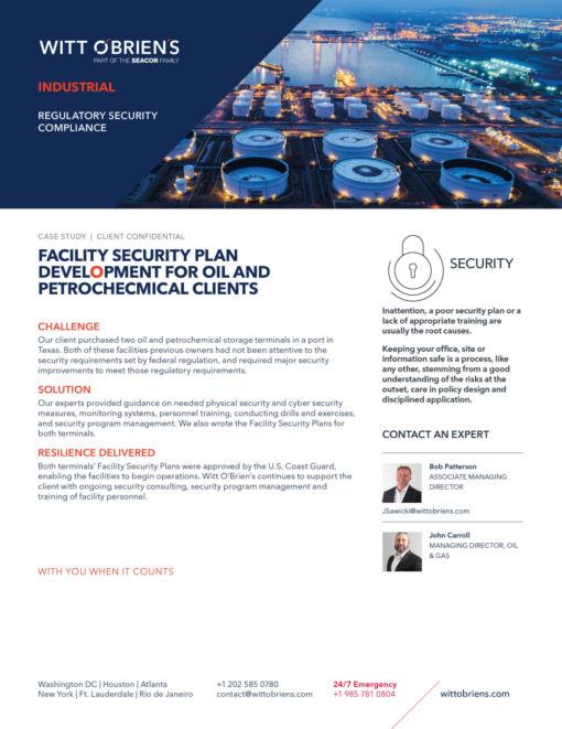 Case Study Regulatory Security Compliance