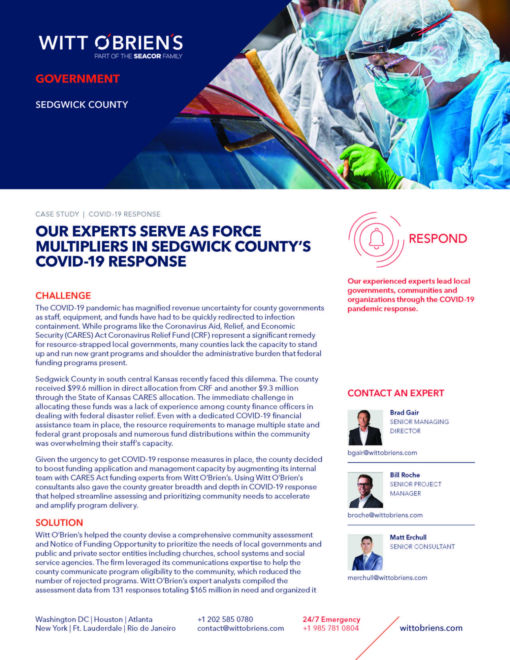 Case Study Sedgwick County COVID 19 Respond Page 1