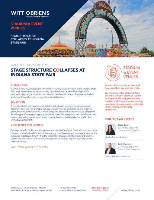 Case Study Indiana State Fair Event Venue recover